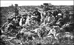 Boer forces posing with spoils of a hunting outing